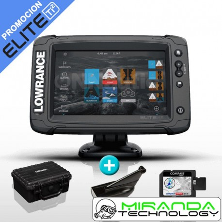 Lowrance Sonda GPS Plotter Elite-7 Ti2 Mid/High CHIRP + DownScan