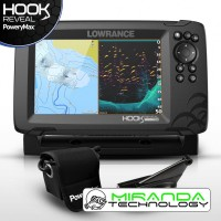 Lowrance Sonda GPS Plotter  HOOK Reveal 7 HDI 83/200 PoweryMax Ready